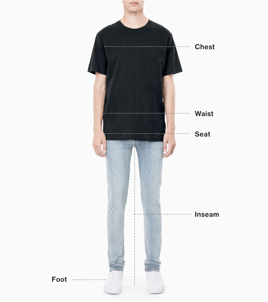 Size guide men - Weekday